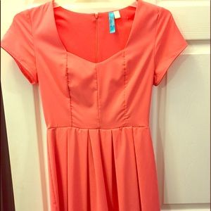 Fit and flare spring dress